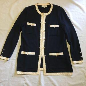 St. John zip up cardigan size 10